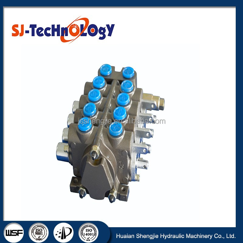 80l/min 4 spools hydraulic sectional directional control valve for Civil Engineering