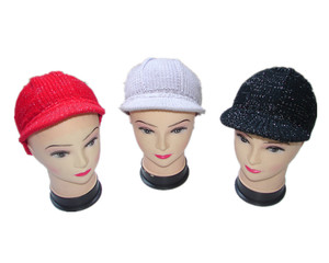 peaked winter hats with silver wire