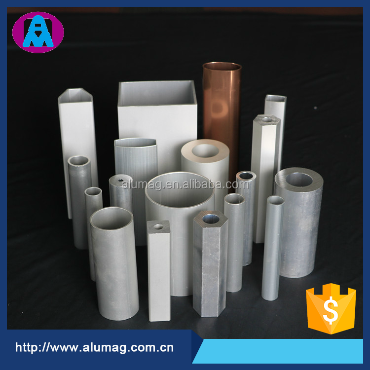 Factory price custom shaped squared aluminium pipes tubes