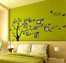 High Quality Beutiful Family Photo Tree PVC Wall/Window Sticker Home Decoration