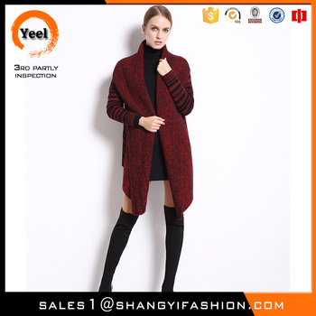 YEEL ladies young fashion clothing jacquard Breathable latest sweater designs for girls