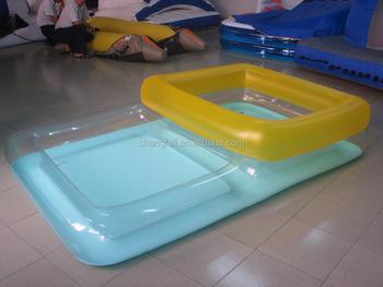 Pl stico especial volar aire piscina inflable transparente for Piscina inflable rectangular