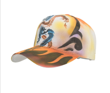 Hand-gedrukt snake en dragon animal stijl baseball caps