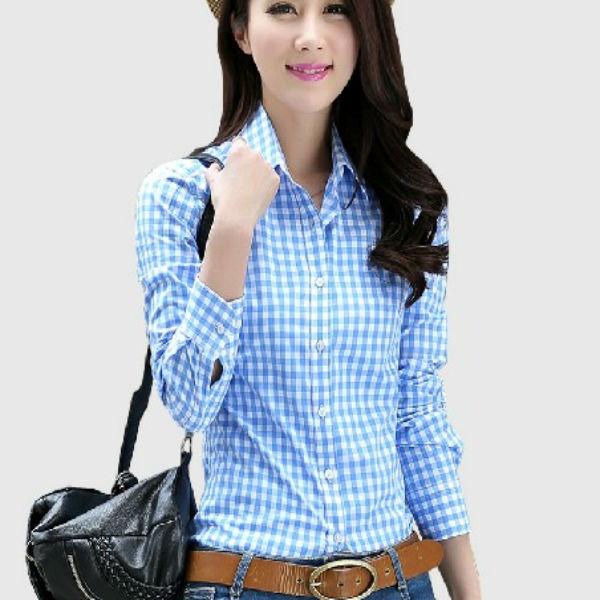 dcb9a1b464005 2014 nuevo diseño de moda para mujer camisas de cuadros-Mujeres ...