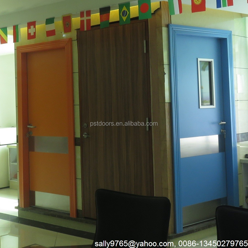 school classroom door and hospital door