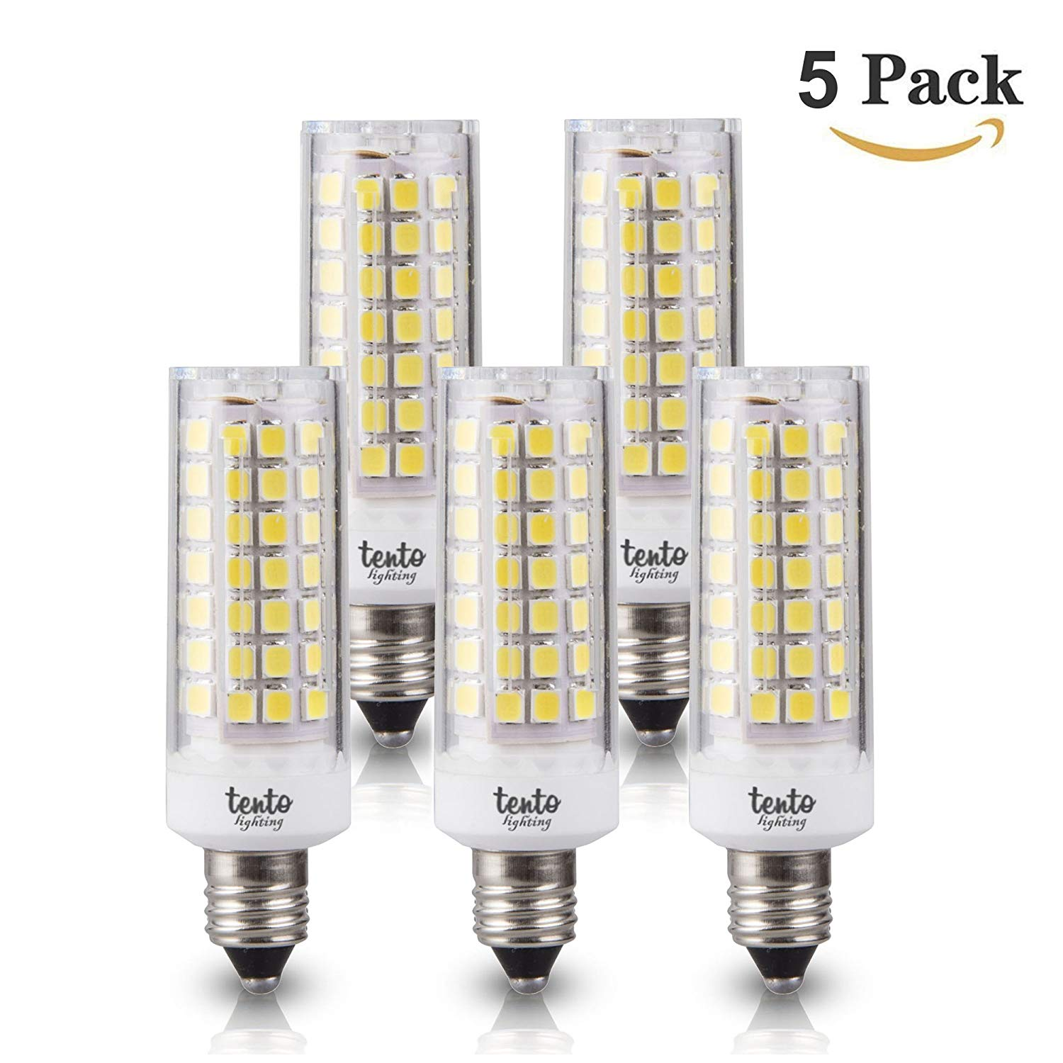 Get Quotations E12 Led Bulbs Daylight White Candelabra Base Lightbulb Bright 7 Watts 60w Equivalent Corn Style