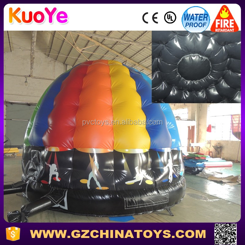 2016 hot seling guangzhou china factory inflatable disco dome bouncer house paypal