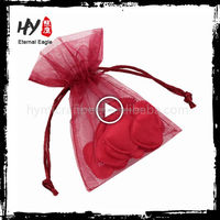 New style lace organza gift bag with high quality
