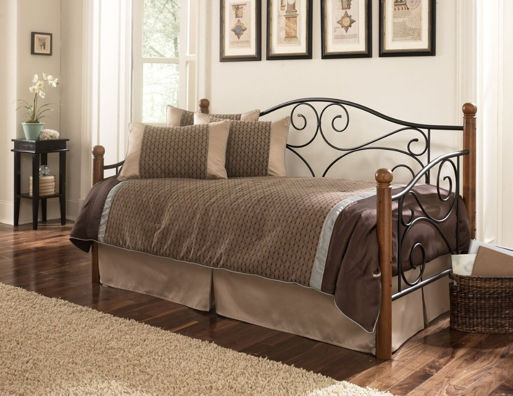 Classic Twin Iron Metal Daybed Day Bed For Sale Single With