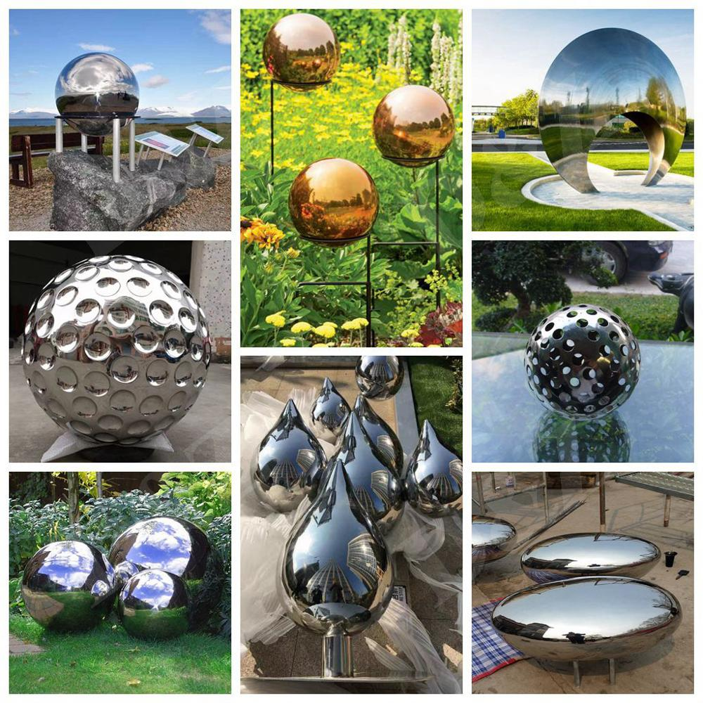 Famous-art abstract figure decorations stainless steel metal plated skulpturen male statue