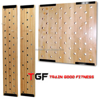 Train Good wall mounted fitness gym wooden climbing peg board