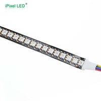4wires, DATA and CLK seperately 144 led pixel strip apa102