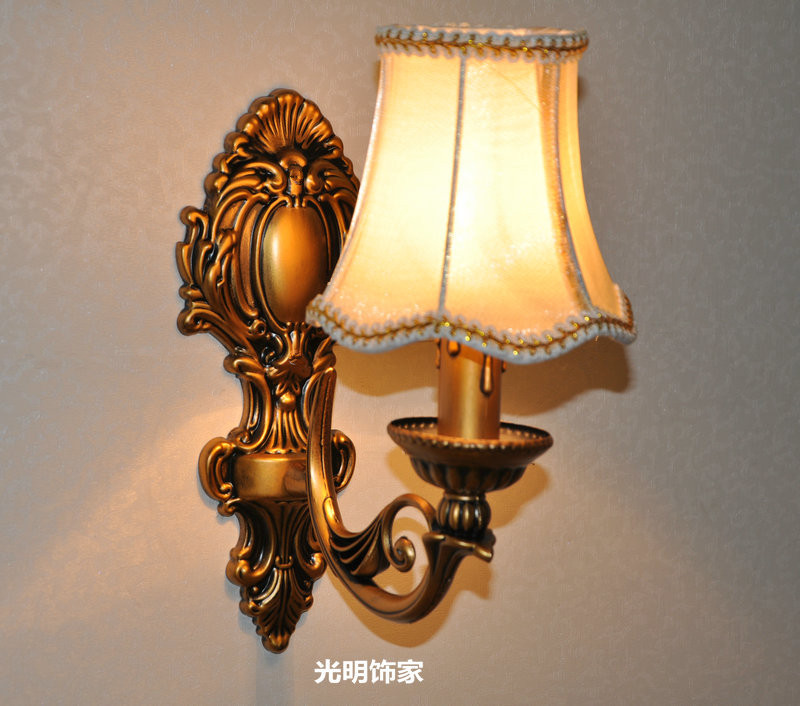 Candle wall lamp fashion antique lighting bedroom bedside ...