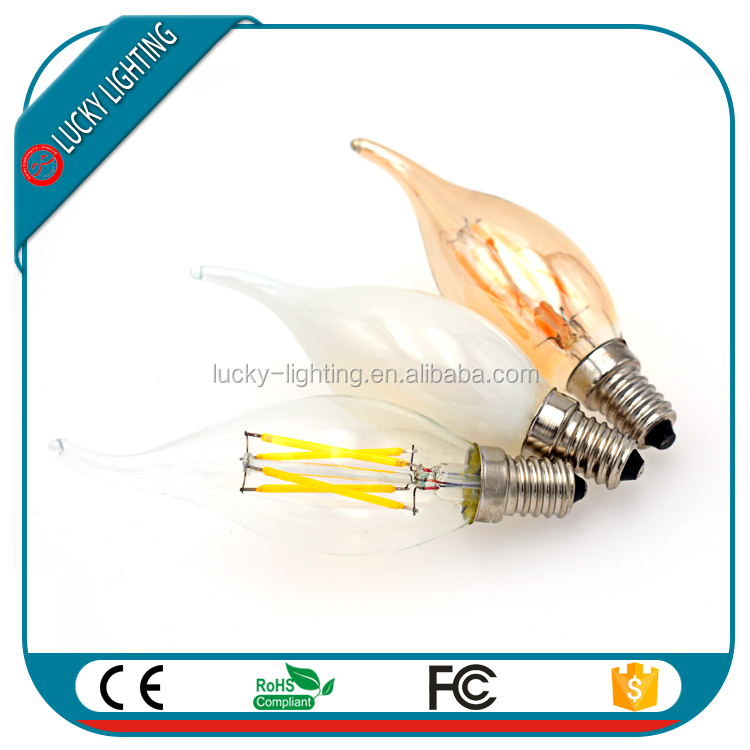 ST64 G125 G95 G80 G50 G45 dimmable clear amber glass E14 E12 E10 carbon filament bulb