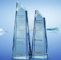 elegant crystal zenith award personalized corporate business gift