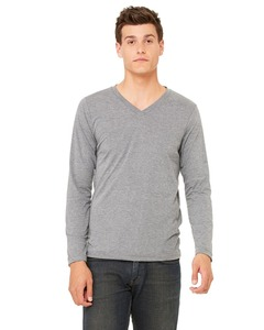 Bangladesh supplier long sleeve v neck t shirt dry blend heavy cotton t shirt 100% ring spun 40s combed cotton t shirts