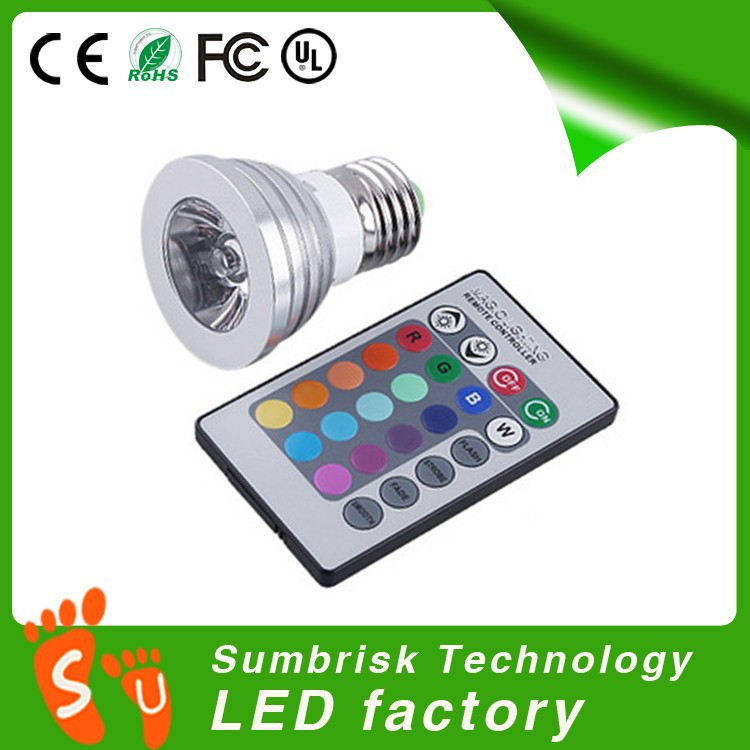 Factory wholesale dmx rgb GU10 E27 MR16 led spotlight