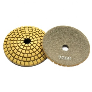 Arc Bowl Type Resin Diamond Convex Wet Flexible Polishing Pad for Stone Edge on Angle Grinder