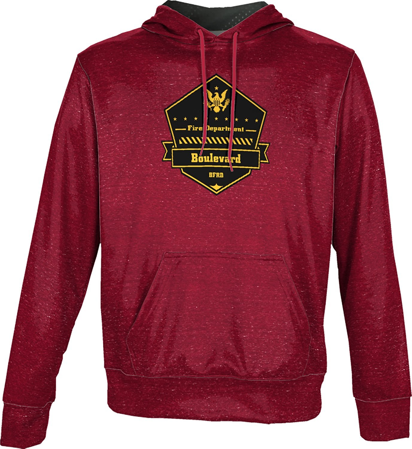 ProSphere Boys' Boulevard Fire and Rescue Department Fire Department Heather Hoodie Sweatshirt