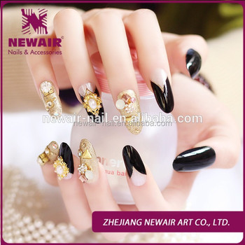 New Design Nails Supplies Acrylic Party Wedding Nails Jeweled ...