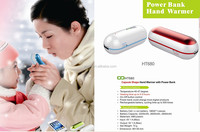 New Design One side heating Capsule Shape USB Promotional Gift Items ,power bank with hand warmer