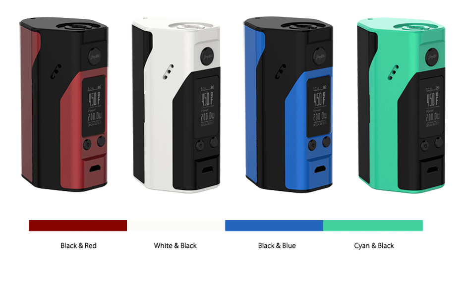 100% Original electronic cigarette reuleaux rx200 vs wismec rx200s new color