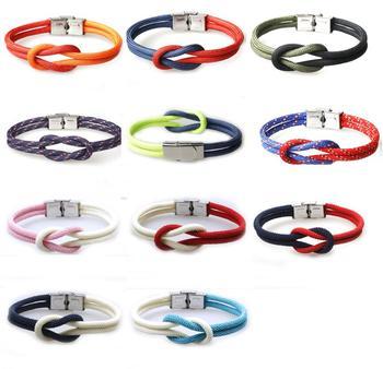 Fashion Design Custom Nylon Bracelet Nautical Anchor Cuff Bracelets Twining Weave Rope Punk Diy