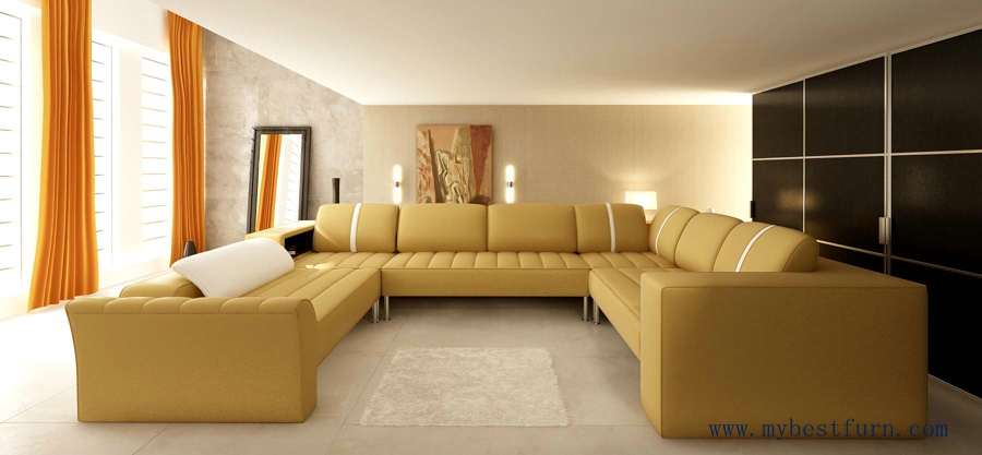 appealing formal elegant sofa living room | Elegant Beige Leather Sofa Hot Sale Large Sofa Set, Real ...