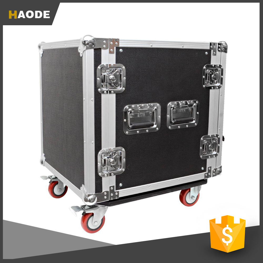 12U Flight Road Rack Case For Amp Effect Mixer PA DJ PRO with Casters