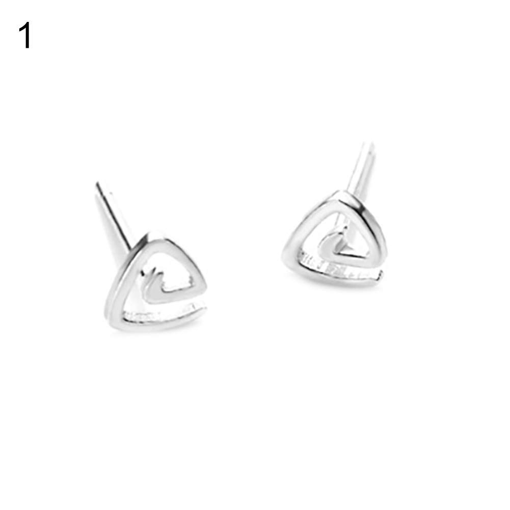 b75bc193d Get Quotations · Opeof Earrings Fashion Mini Stud Earring Anti Allergy Women  Girls Club Banquet Party Jewelry - Silver