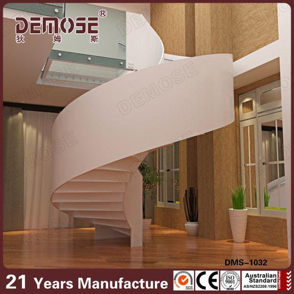 pequeo usado escalera de caracol de cristal escaleras barandilla para casas