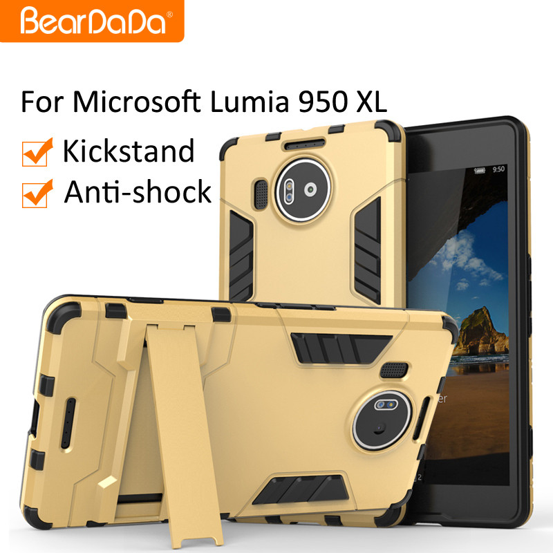 Anti shock kickstand Hybrid TPU PC case for nokia lumia 950 xl microsoft 950xl