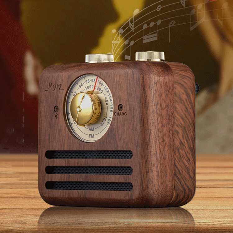 real wood portable home radio with Blue tooth speaker AM FM