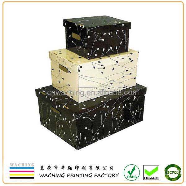 Custom Fancy Decorative Paper Storage Box With Lids Wholesale