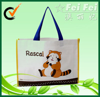 Cute cartoon printing PP non woven handbags for child or girls