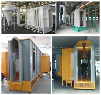 Aluminium Steel Pipe Plate Electrostatic Painting Line With Spraying
