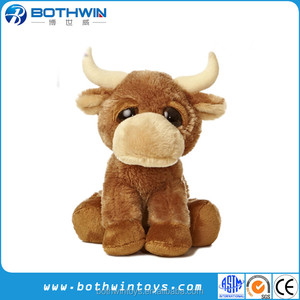 Custom Cuddly Soft Yak plush stuffed toys
