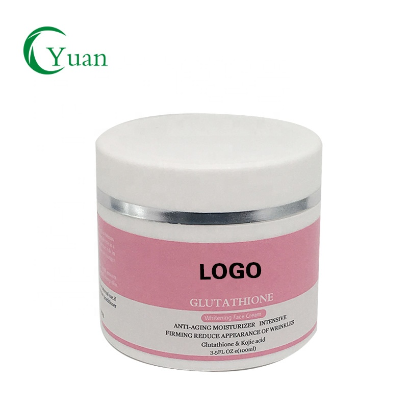 Private label strong skin whitening l-glutathione face cream for black skin