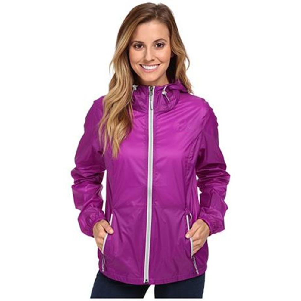 Plus Size Women Purple Windcheater Jacket