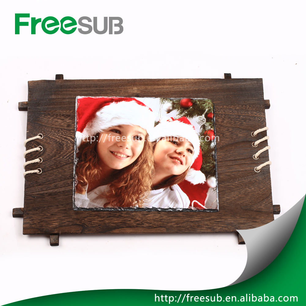 Wholesale Stone Blank Glossy Decorative Sublimation Rock Slate Photo Frame