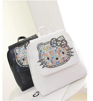 69ae02c4f7 Handmade Diamante Children School Bag Hello Kitty Backpack - Buy ...