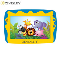 zentality OEM low price silicon casing kid study pad 1800mAh kid tablet with dual camera