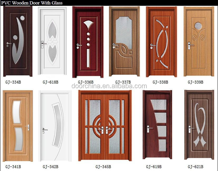 Pvc interior living room mdf doors indian door designs for Puertas de metal con vidrio