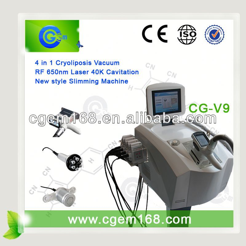 Salon use 4 cryo handle cryolipolysis cellulite reduce machine for cryo fat removal