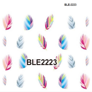 wholesale 2018 #BLE new Manicure accessories sticker Full cover nail water transfer printing Christmas water stickers decals