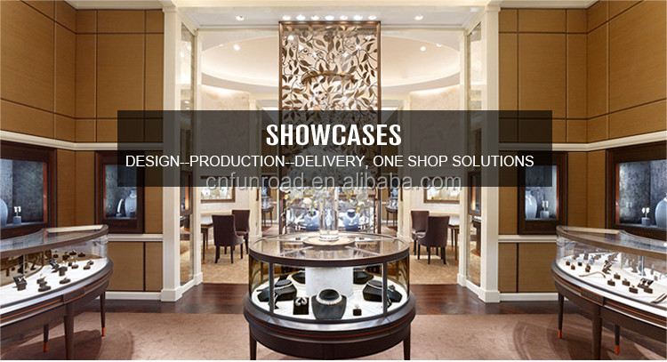 luxury display design store furniture jewelry cabinet