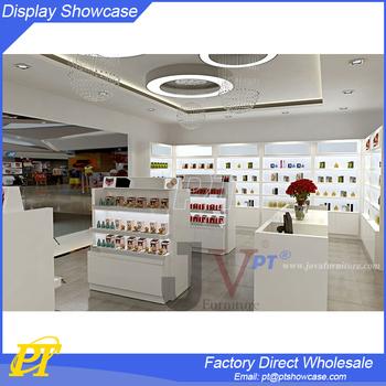Interior Design Ideas Cosmetic Shop Counter Design Makeup Station ...