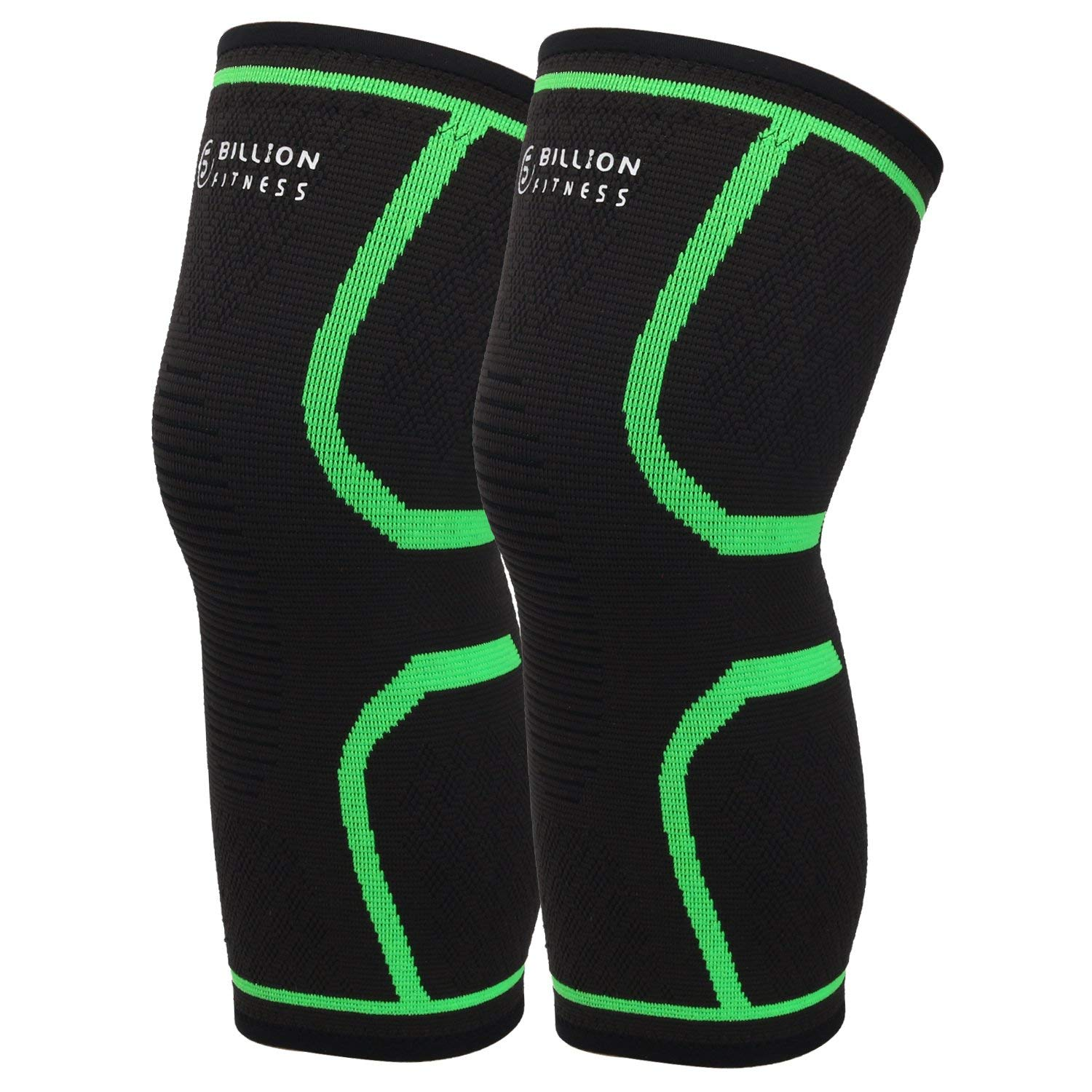 aacd8a7946 5BILLION Knee Sleeve Knee Support Knee Compression Brace for Powerlifting,  Arthritis, Running, Workout, Joint Pain Relief & Cross Training-Both for  Men ...