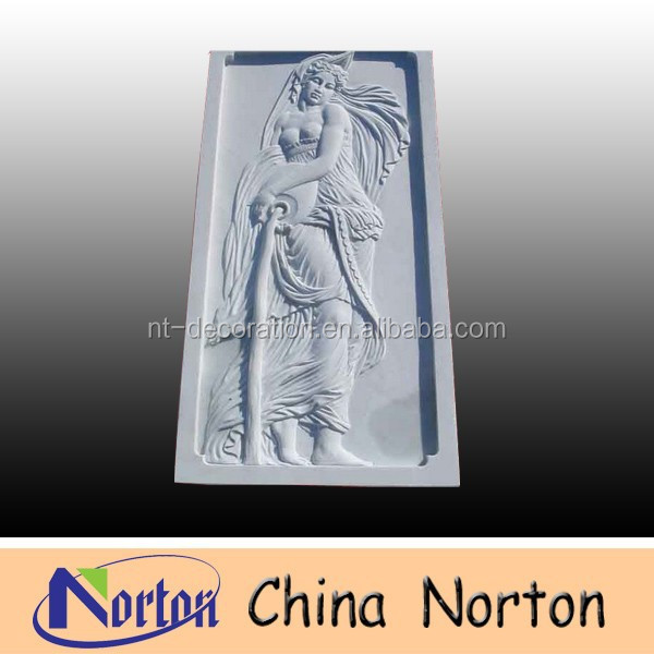 carved lady marble bas relief sculpture NTMR-R105