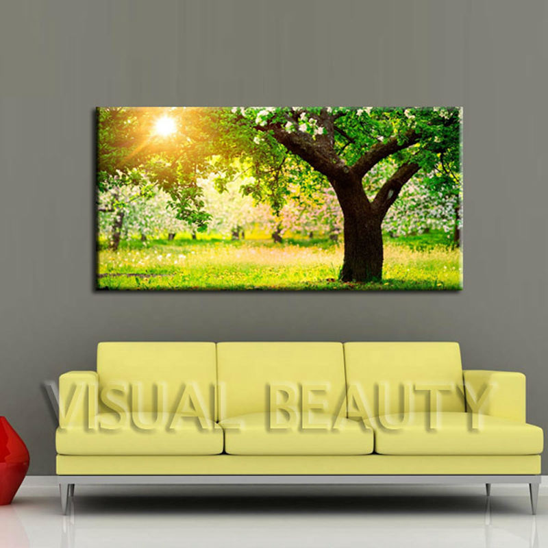 Green Tree Canvas Wall Art/waterproof Digital Printing Photo Canvas ...